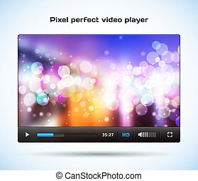 Pixel perfect video player for web.