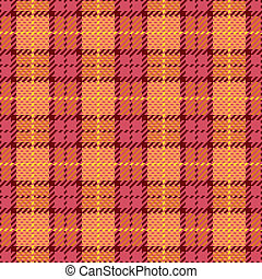Pixel Plaid in Pink and Orange