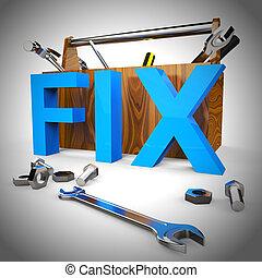 Pixel repair tools mean mending or patching a problem - 3d ...