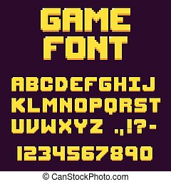 Pixel retro videogame font - Pixel retro video game font. 8...