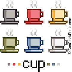 Pixel set cups