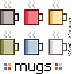 Pixel set mugs