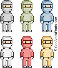 Pixel set ninja