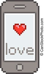 Pixel smartphone, sms love messages