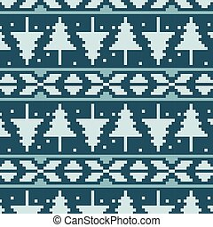 Pixel spruces seamless vector pattern
