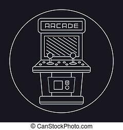 pixel, stijl, kunst, arcade, eenvoudig, ouderwetse , lijn,...