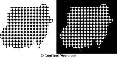 Pixel Sudan Map