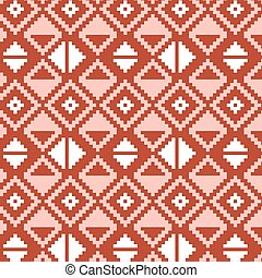 Pixel triangles seamless vector pattern