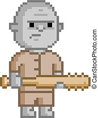 Pixel troll for 8 bit video game and design
