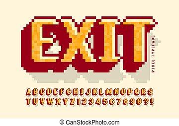 8 bit font EPS Vector | csp28746028