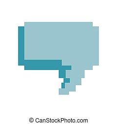 pixel video game speech bubble
