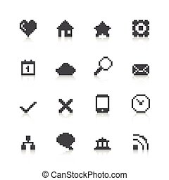 Pixel Web Icons