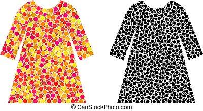 Pixel Woman Dress Mosaic Icons