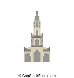 pixelate, bit., スタイル, 古い, ランドマーク, 大聖堂, 16bit., berne, ...