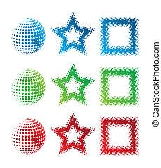 pixelate, logos