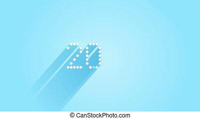 pixelated 2016 sign flat style animation