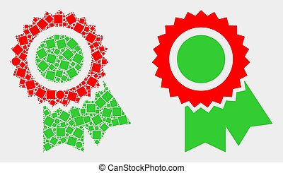 Pixelated and Flat Vector Award Seal Icon