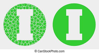Pixelated and Flat Vector First Icon