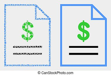 Pixelated and Flat Vector Price List Page Icon