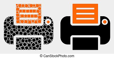 Pixelated and Flat Vector Printer Icon