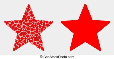 Pixelated and Flat Vector Star Icon
