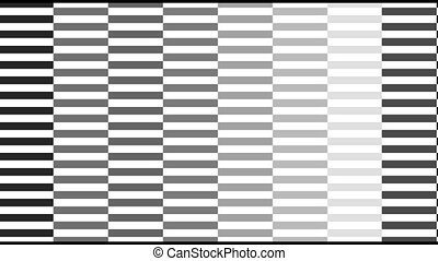 Pixelated digital screen texture with a monochromatic black and white random changing pattern. Color animation. Abstract CGI motion graphics and animated background with moving shapes