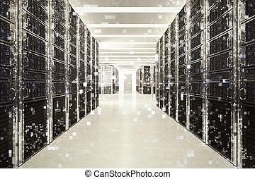 pixelated, efecto, de, un, imagen, de, un, habitación, de, virtual, database., 3d, interpretación