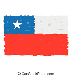 Pixelated flag of Chile