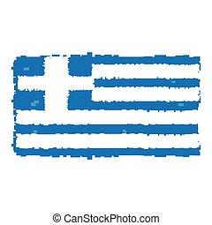 Pixelated flag of Greece