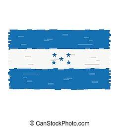Pixelated flag of Honduras