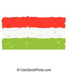 Pixelated flag of Hungary