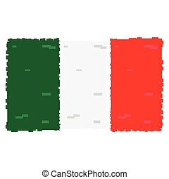 Pixelated flag of Italy