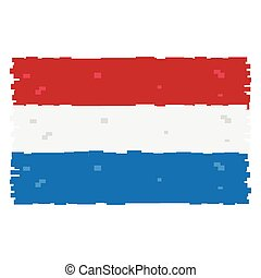 Pixelated flag of The Netherlands
