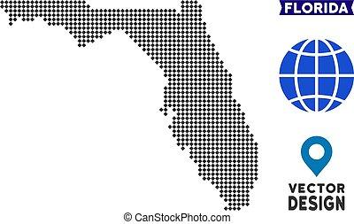Pixelated Florida Map