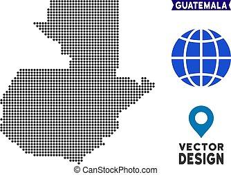 Pixelated Guatemala Map
