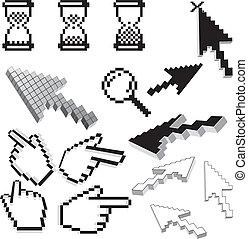 pixelated, ikony
