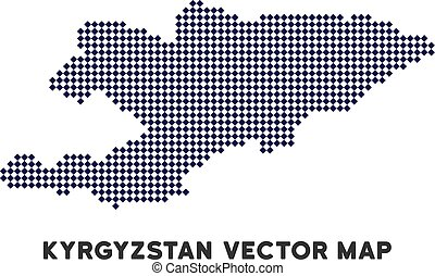 Pixelated Kyrgyzstan Map