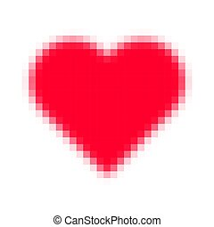 Pixelated red heart shape icon.