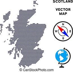 Pixelated Scotland Map