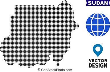 Pixelated Sudan Map