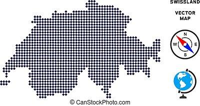 Pixelated Swissland Map