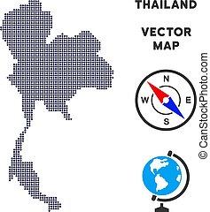 Pixelated Thailand Map