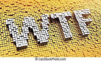 pixelated, wtf