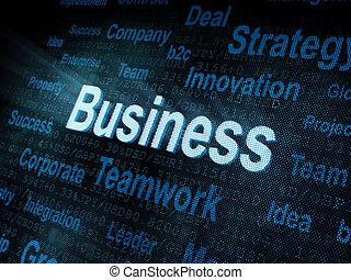 pixeled, スクリーン, 単語, ビジネス, デジタル