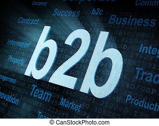 pixeled, スクリーン, 単語, b2b, デジタル