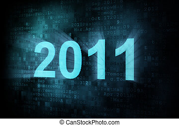 pixeled, timeline, schermo, digitale, parola, 2011, concept: