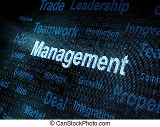 Pixeled word Management on digital screen