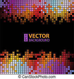 pixels, abstract, achtergrond, kleurrijke, digitale