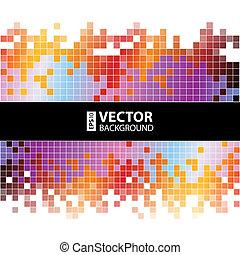 pixels, abstratos, fundo, coloridos, digital