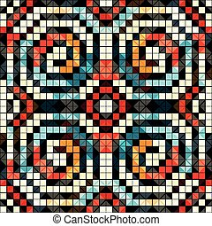 pixels colored geometric seamless pattern vector illustration